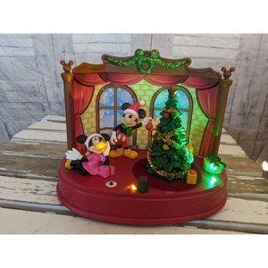 Ruz Disney Xmas animated singing lights decor mick